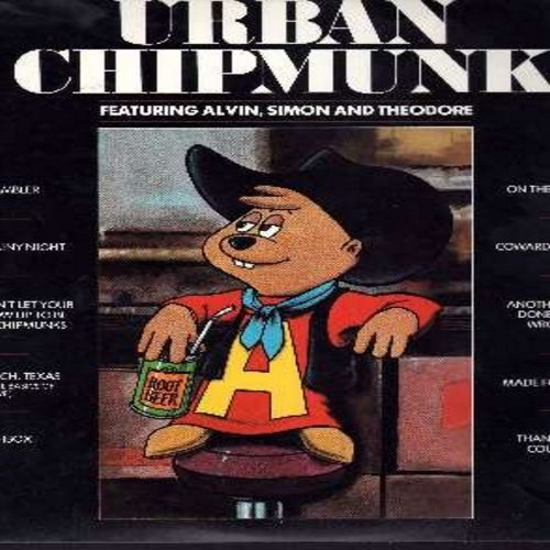 Chipmunks - Urban Chipmunk: On The Road Again, I Love A Rainy Night, The Gambler, Thank God I'm A Country Boy, Coward Of The County (vinyl STEREO LP record) (soc) - VG7/VG7 - LP Records