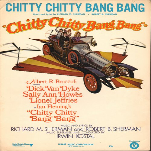 Chitty Chitty Bang Bang - Chitty Chitty Bang Bang - SHHET MUSIC for the title song from film Chitty Chitty Bang Bang  (This is SHEET MUSIC, not any other kind of media!) - EX8/ - Sheet Music