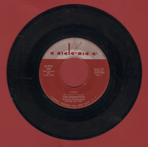 Chordettes - Zorro/Love Is A Two-Way Street - EX8/ - 45 rpm Records
