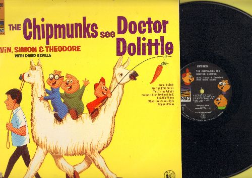 Chipmunks - The Chipmunks See Doctor Dolittle: Talk To The Animals, I've Never Seen Anything Like It, My Friend The Doctor, When I Look In Your Eyes  (vinyl STEREO LP record) - NM9/NM9 - LP Records