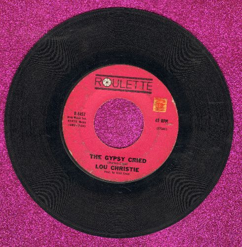 Christie, Lou - The Gypsy Cried/Red Sails In The Sunset (purple label first issue) - VG7/ - 45 rpm Records