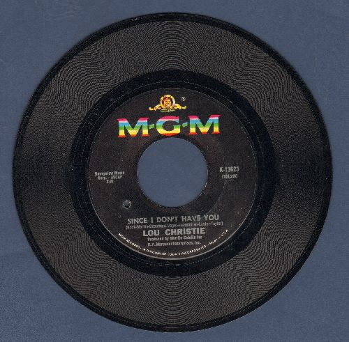 Christie, Lou - Since I Don't Have You/Wild Life's In Season (bb) - NM9/ - 45 rpm Records