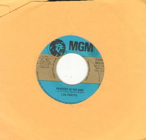 Christie, Lou - Lightnin' Strikes/Rhapsody In The Rain (authentic-looking double-hit re-issue, minor wol) - VG6/ - 45 rpm Records