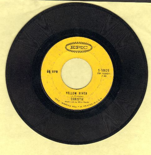 Christie - Yellow River/Down The Mississippi Line  - VG6/ - 45 rpm Records