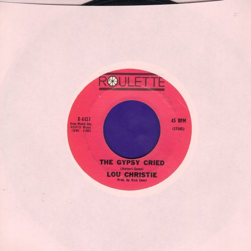 Christie, Lou - The Gypsy Cried/Red Sails In The Sunset (purple label first issue) - EX8/ - 45 rpm Records