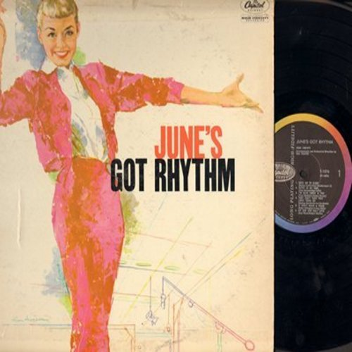 Christy, June - June's Got Rhythm: Rock Me To Sleep, They Can't Take That Away From Me, It Don't Mean A Thing, Blue Moon (vinyl MONO LP record) - M10/VG7 - LP Records