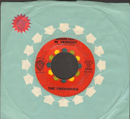 Crenshaws - Moonlight In Vermont/He's Got The Whole World In His Hands (with vintage Warner Brothrs company sleeve) - VG6/ - 45 rpm Records