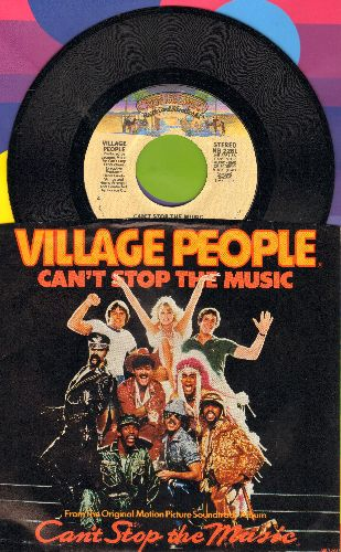 Village People - Can't Stop The Music/Milkshake (with picture sleeve) - NM9/NM9 - 45 rpm Records