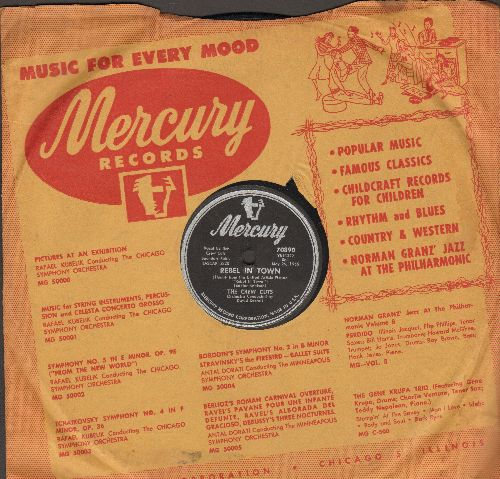 Crew-Cuts - Rebel In Town/Tell Me Why (RARE 10 inch 78rpm record with Mercury company sleeve) - VG6/ - 78 rpm