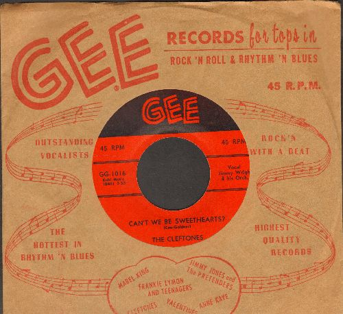 Cleftones - Can't We Be Sweethearts/Neki-Hokey (first pressing with RARE vintage Gee company sleeve) - NM9/ - 45 rpm Records