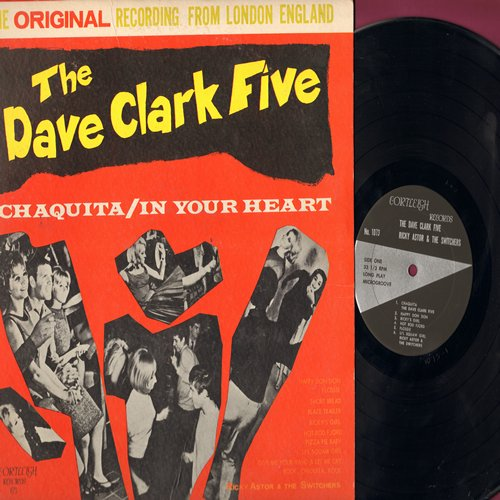 Clark, Dave Five, Ricky Astor & The Switchers - Chaquita/In Your Heart: Short Bread, Ricky's Girl, Hot Rod Fjord, Pizza Pie Baby, Rock Chiquita Rock (vinyl STEREO LP record) - NM9/VG7 - LP Records
