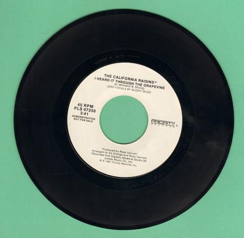 California Raisins - I Heard It Through The Grapevine (double-A-sided DJ advance pressing, MINT condition) - M10/ - 45 rpm Records