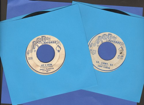 Clanton, Jimmy - 2 for 1 Special: Just A Dream/Go Jimmy Go (2 vintage first issue 45rpm records for the price of 1!) - VG7/ - 45 rpm Records