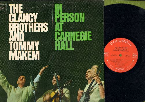 Clancy Brothers & Tommy Makem - In Person At Carnegie Hall:Johnson's Motor Car, Reilley's Daughter, The Parting Glass (vinyl MONO LP record) - NM9/NM9 - LP Records