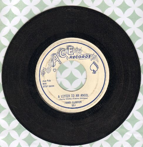 Clanton, Jimmy - A Letter To An Angel/A Part Of Me  - EX8/ - 45 rpm Records