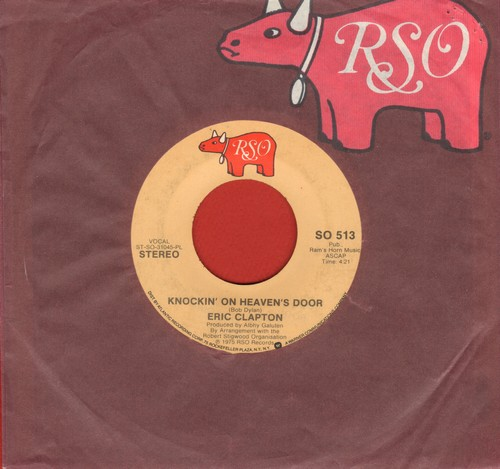 Clapton, Eric - Knockin' On Heaven's Door/Someone Like You (with RSO company sleeve) - VG7/ - 45 rpm Records