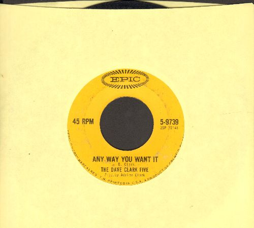 Clark, Dave Five - Any Way You Want It/Crying Over You - EX8/ - 45 rpm Records