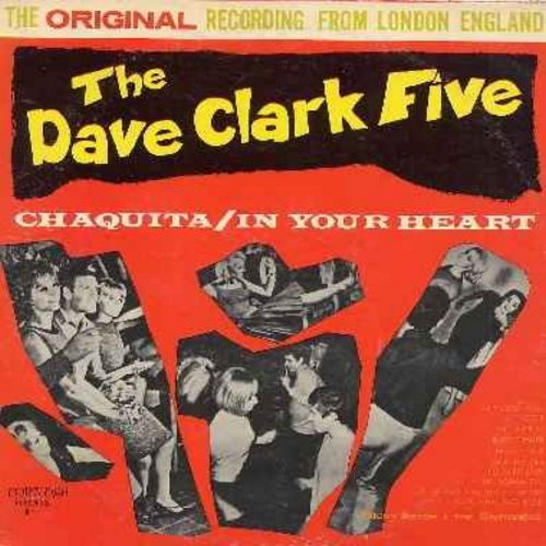 Clark, Dave Five - The Dave Clark Five: Chaquita, In Your Heart, Flossie, Short Bread, Pizza Pie Baby, Happy Don Don, Hot Rod Fjord (vinyl MONO LP record) - NM9/VG7 - LP Records