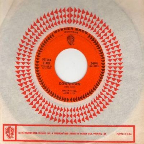 Clark, Petula - Downtown/You'd Better Love Me (with vintage Warner Brothers company sleeve) - EX8/ - 45 rpm Records