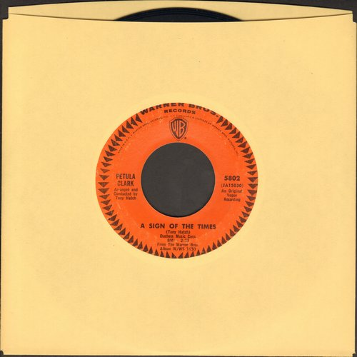 Clark, Petula - A Sign Of The Times/Time For Love  - VG7/ - 45 rpm Records
