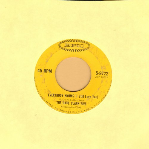 Clark, Dave Five - Everybody Knows (I Still Love You)/Ol' Sol  - VG7/ - 45 rpm Records