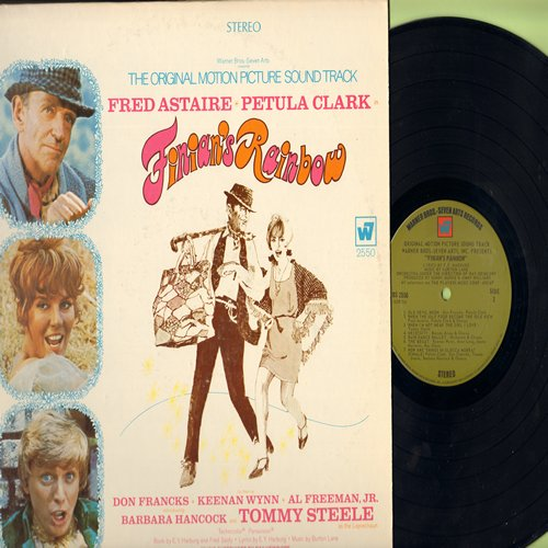 Clark, Petula, Fred Astaire, Tommy Steele - Finian's Rainbow - Original Motion Picture Sound Track, includes songs Look To The Rainbow, Old Devil Moon and How Are Things In Glocca Morra? (vinyl STEREO LP record) - NM9/EX8 - LP Records