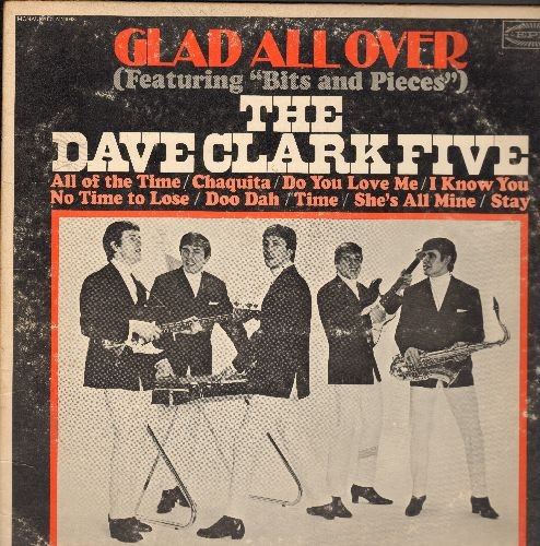 Clark, Dave Five - Glad All Over: Bits And Pieces, Chaquita, Do You Love Me?, Stay (vinyl MONO LP record) - VG6/VG6 - LP Records