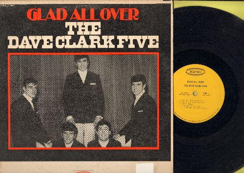 Clark, Dave Five - Glad All Over: Bits And Pieces, Chaquita, Do You Love Me?, Stay (vinyl MONO LP record, the RARE issue with NO musical instruments on cover!) - EX8/VG6 - LP Records