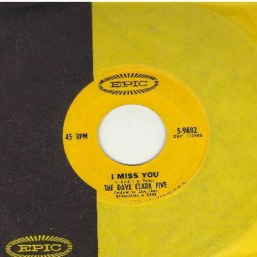 Clark, Dave Five - At The Scene/I Miss You (with Epic company sleeve) - NM9/ - 45 rpm Records