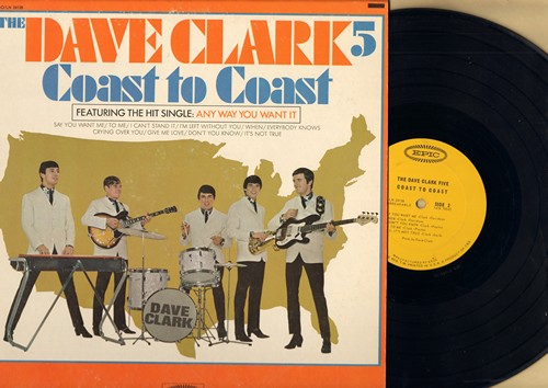 Clark, Dave Five - Coast To Coast: Any Way You Want It, I Can't Stop Loving You, When, Don't You Know (vinyl MONO LP record) - VG7/VG7 - LP Records