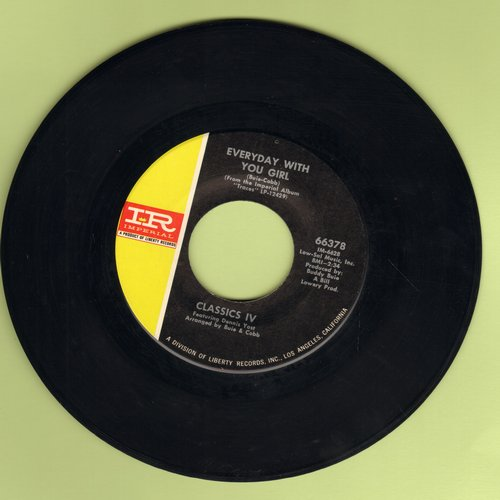 Classics IV - Everyday With You Girl/Sentimental Lady - NM9/ - 45 rpm Records