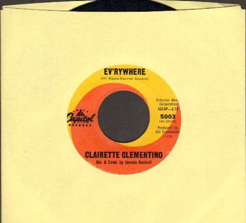 Clementino, Clairette - Ev'rywhere/See Me (ENCHANTING 60s Girl-Sound two-sider!) - NM9/ - 45 rpm Records
