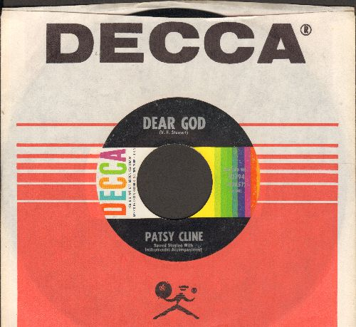 Cline, Patsy - Dear God/He Will Do For You (with Decca company sleeve) - EX8/ - 45 rpm Records