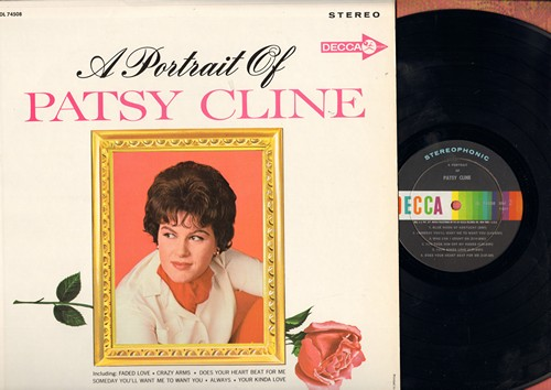 Cline, Patsy - A Portrait Of Patsy: Always, Someday You'll Want Me To Want You, Blue Moon Of Kentucky, When I Get Thru With You (You'll Love Me Too), Faded Love (vinyl STEREO LP record) - NM9/VG7 - LP Records