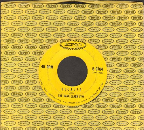Clark, Dave Five - Because/Theme Without A Name (with vintage Epic company sleeve)  - EX8/ - 45 rpm Records