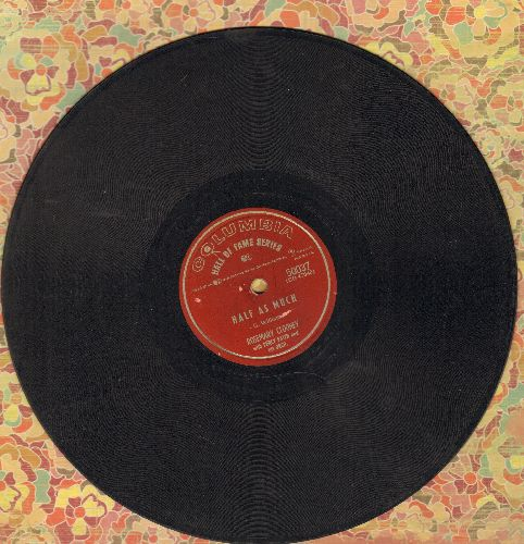Clooney, Rosemary - Tenderly/Half As Much (10 inch 78rpm record) - VG6/ - 78 rpm