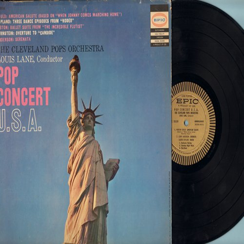 Cleveland Pops Orchestra, Louis Lane conducting - Pop Concert U.S.A.: American Salute, Serenata, Rodeo, Circus March, Minuet (vinyl MONO LP record) - NM9/VG7 - LP Records