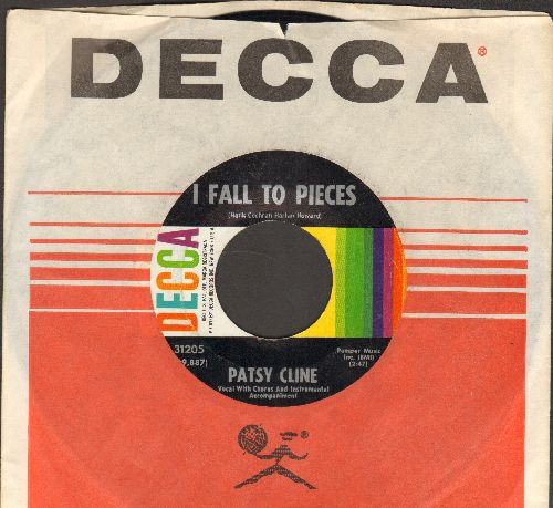 Cline, Patsy - I Fall To Pieces/Lovin' In Vain (NICE condition with vintage Decca company sleeve) - NM9/ - 45 rpm Records