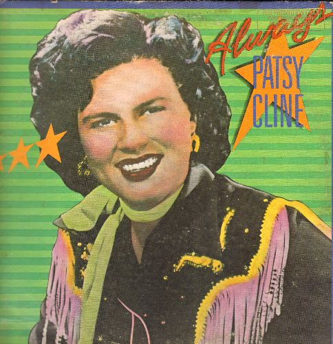 Cline, Patsy - Always: I Fall To Pieces, True Love, That's My Desire, Does Your Heart Beat For Me (vinyl LP record, re-issue of vintage recordings, DJ advance pressing) - EX8/VG7 - LP Records