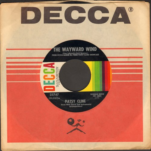 Cline, Patsy - The Wayward Wind/Crazy Arms (with Decca company sleeve) - VG7/ - 45 rpm Records