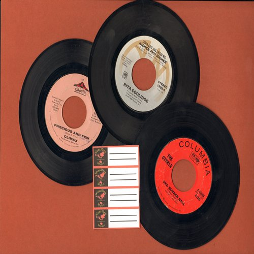 Climax, Rita Coolidge, The Cyrkle - Feel-Good Bubblegum Era Trio: Higher & Higher, Red Rubber Ball and Precious And Few, first pressings with 4 blnak juke box labels. GREAT for a juke-box! - EX8/ - 45 rpm Records