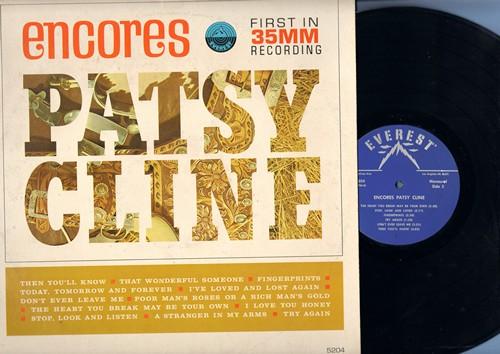 Cline, Patsy - Encores: That Wonderful Someone, Fingerprints, Don't Ever Leave Me, Poor Man's Roses Or A Rich Man's Gold (vinyl MONO LP record) - NM9/EX8 - LP Records