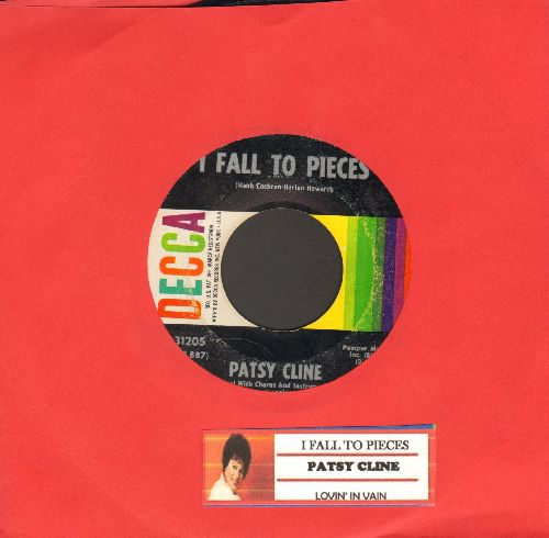 Cline, Patsy - I Fall To Pieces/Lovin' In Vain (with juke box label) - VG7/ - 45 rpm Records