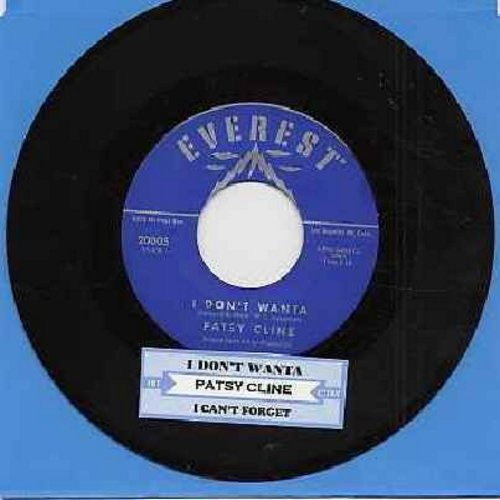 Cline, Patsy - I Don't Wanta/I Can't Forget (with juke box label) - NM9/ - 45 rpm Records