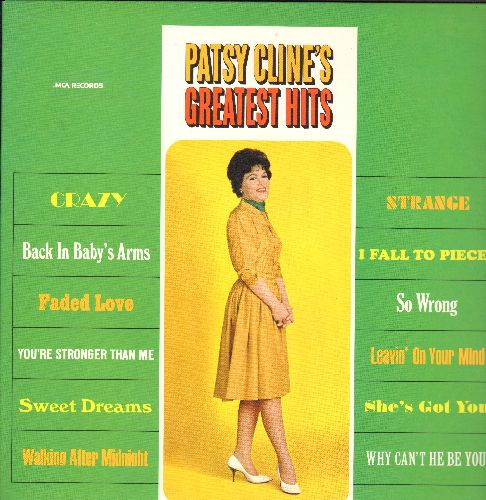 Cline, Patsy - Patsy Cline's Greatest Hits: Walking After Midnight, Sweet Dreams, Crazy, I Fall To Pieces, Strange, She's Got you (vinyl LP record, re-issue of vintage recordings) - NM9/NM9 - LP Records
