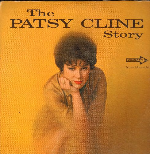 Cline, Patsy - The Patsy Cline Story:  Walking After Midnight, Sweet Dreams, Crazy, I Fall To Pieces, Strange, She's Got You, True Love, Wayward Wind (2 vinyl MONO LP record set, gate-fold cover) - EX8/EX8 - LP Records