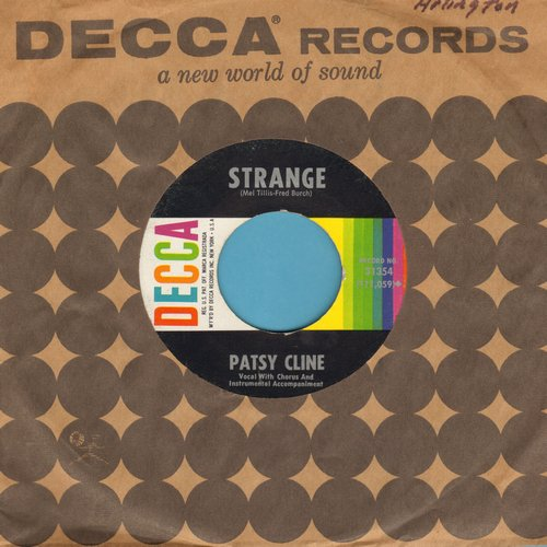 Cline, Patsy - Strange/She's Got You (with Decca company sleeve) - NM9/ - 45 rpm Records