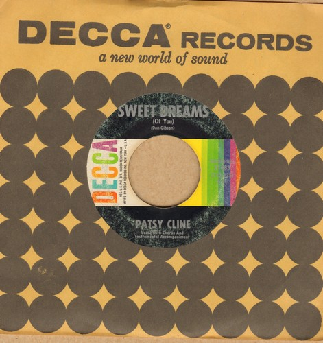 Cline, Patsy - Sweet Dreams/Back In Baby's Arms (with vintage Decca company sleeve) - VG6/ - 45 rpm Records