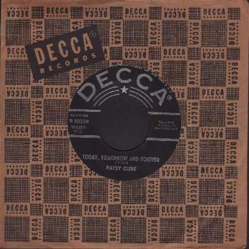 Cline, Patsy - Today, Tomorrow And Forever/Try Again (first issue with vintage Decca company sleeve) - NM9/ - 45 rpm Records