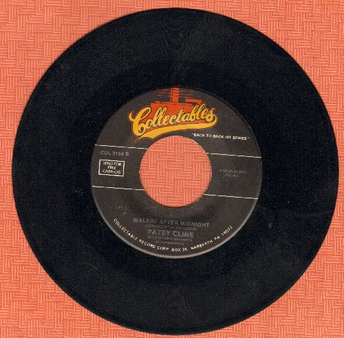 Cline, Patsy - Walkin' After Midnight/Tequila (by The Champs on flip-side) (re-issue) - NM9/ - 45 rpm Records